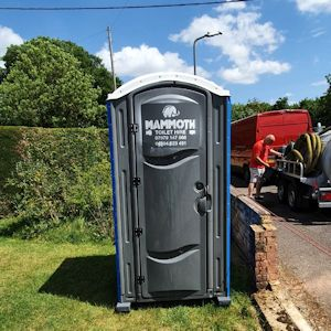 porta loo servicing for building sites