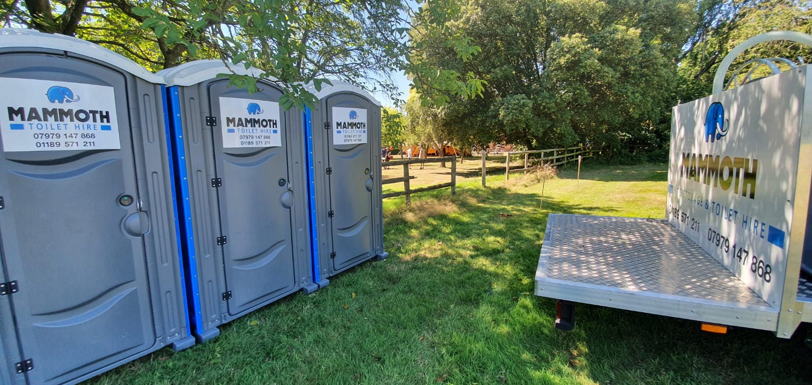 Book hire toilets