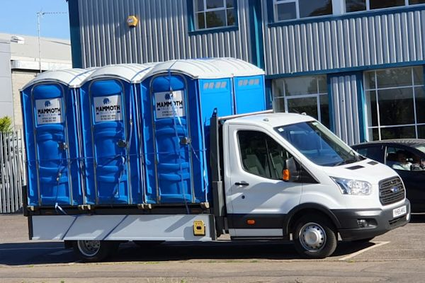 Hire toilet delivery